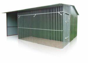Garazshoz allitott kutyakennel 1,5m x 3,5m