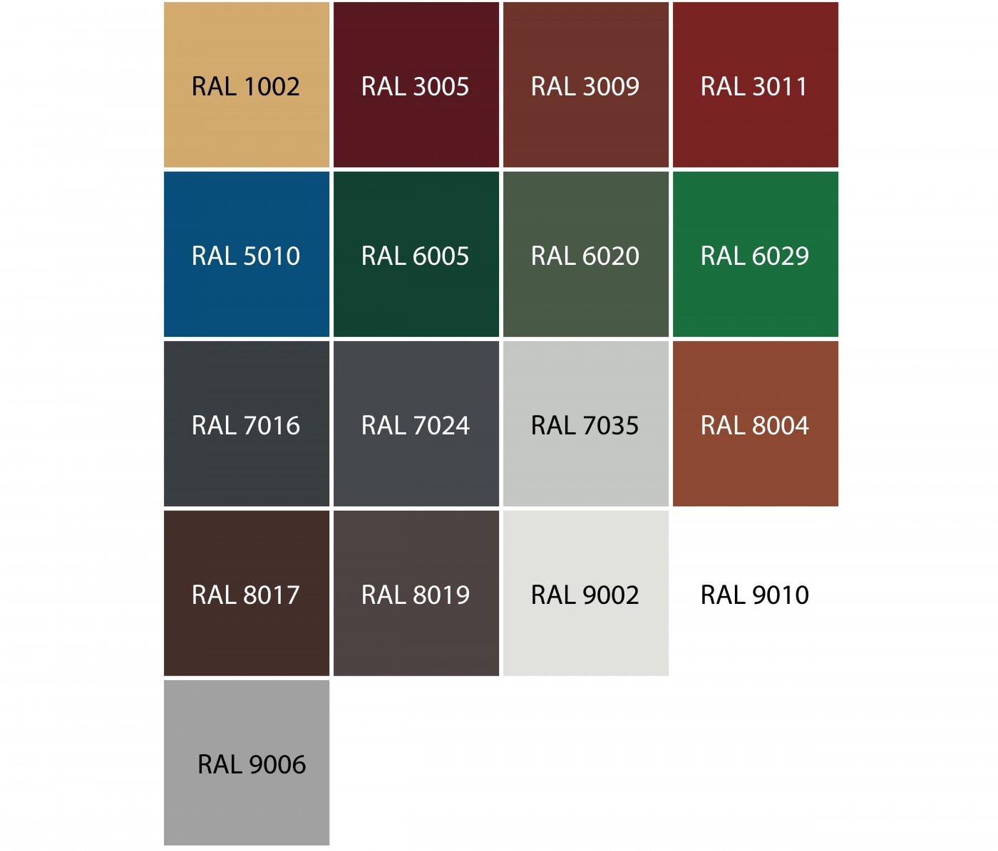 paleta kolorow ral