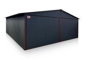 Dupla mobilgarázs 6x5 / 6x6 méretben nyeregtetővel, grafit színben