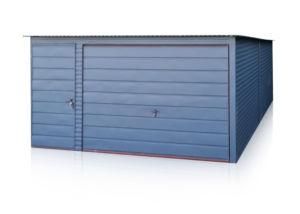 Mobilgarázs 4x5 m, hátra lejtő tetővel, grafit színben